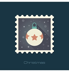 Christmas balls flat stamp vector