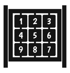 Cubes with numbers on playground icon simple style vector image