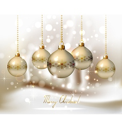 elegant glimmered Christmas vector image