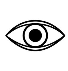 eye isolated icon design vector image