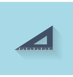 Flat ruler icon vector image vector image