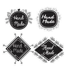 Hand made labels monochrome icon vector