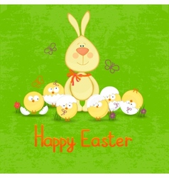 Happy easter cute easter bunny vector