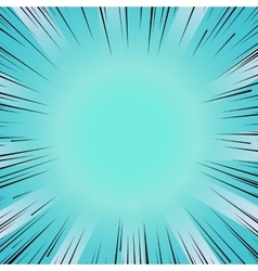 Manga comic book flash blue explosion radial lines vector image vector image