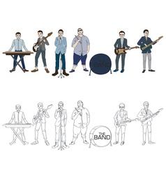 Musician band vector