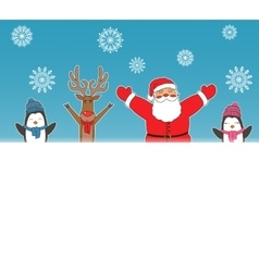 New year card for holiday design with Santa Claus vector image