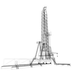 oil rig detailed vector image