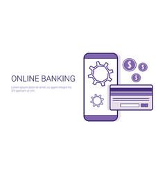 online banking mobile payment business concept vector image