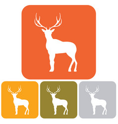 silhouette of the deer vector image vector image