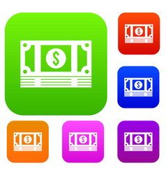 Stack of money set collection vector