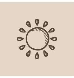 Sun sketch icon vector image
