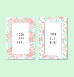two different cards templates vector image vector image