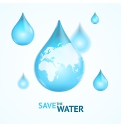Water globe save concept vector