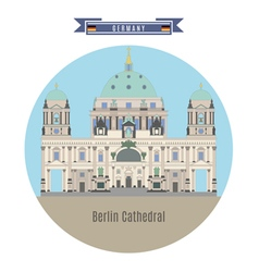 Berlin cathedral germany vector