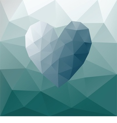 Low poly heart vector image