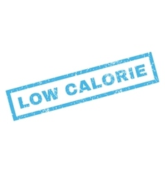 Low calorie rubber stamp vector