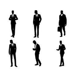 Six businessmen set vector
