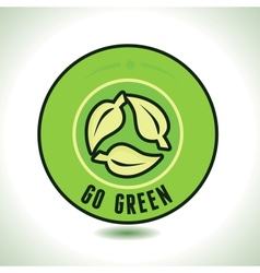 round label with recycle symbol vector image
