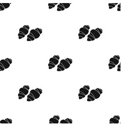 Gnocchi pasta icon in black style isolated on vector