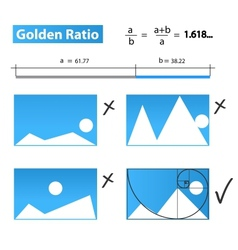 Golden ratiogolden proportion vector