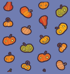 Seamless infinite background with pumpkins vector