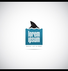 shark of business logo template vector image