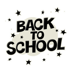 Back to school colorful poster with stars comic vector