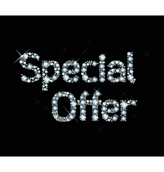 Dianond Word Special Offer vector image