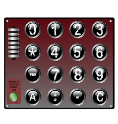 Security keypad with touch panel and speaker vector