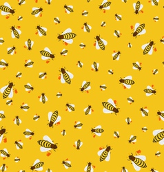 Seamless texture of bees vector