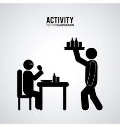 Pictogram doing activity design vector