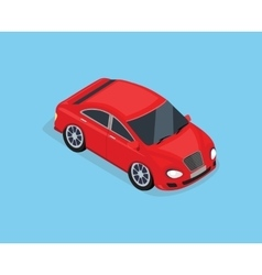 Flat 3d isometric high quality sedan automobile vector