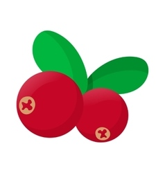 Cranberry icon cartoon style vector