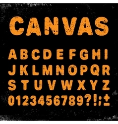 Canvas alphabet font vector