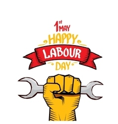 Happy labour day poster vector