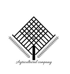 Logo agricultural company work farmer vector