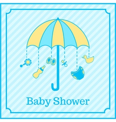 baby boy shower invitation vector image