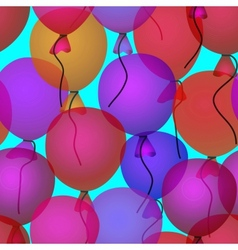 balloons in sky seamless pattern background vector image vector image