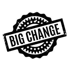 Big change rubber stamp vector