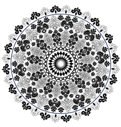 Black oriental pattern and ornaments vector