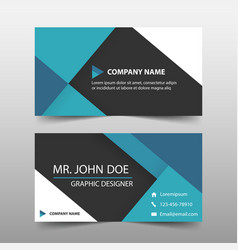 blue corporate business card name card template vector image vector image