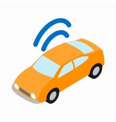 Car Wi-fi icon isometric 3d style vector image
