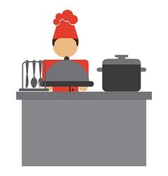 Chef icon vector