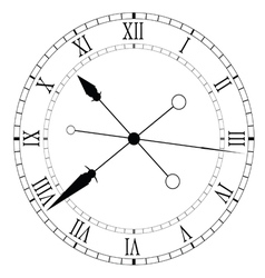 clock old and unique black vector image