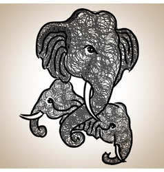 Elephant Fine art vector image