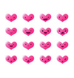 Emoticons heart gradient vector