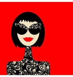 fashion woman portrait vector image