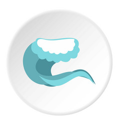 foamy wave icon circle vector image