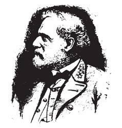 General robert e lee vintage vector