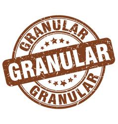 granular brown grunge stamp vector image vector image
